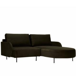 Canapé d'angle droit ALFA ROUND 2 places pieds métal