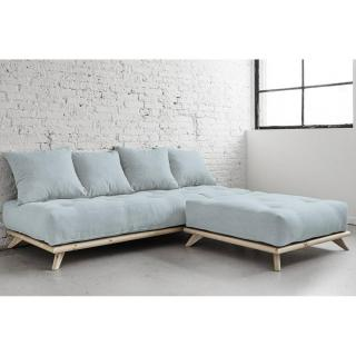 canap convertible au meilleur prix m ridienne senza avec chaise lounge matelas futon sky blue. Black Bedroom Furniture Sets. Home Design Ideas