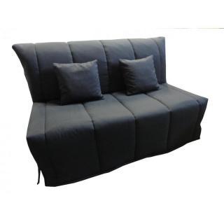 Canapé BZ convertible FLO noir 160*200cm matelas confort BULTEX inclus