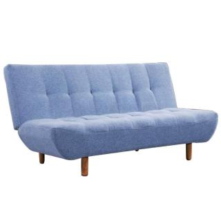 Canapé Clic Clac design scandinave VIKING tissu bleu
