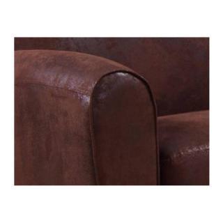 Canapé CLUB BUFALLO 2 places en microfibre vintage marron