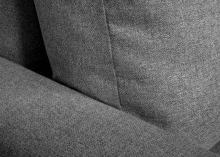 Canapé d'angle réversible et convertible gigogne KEN gris couchage 140x200cm