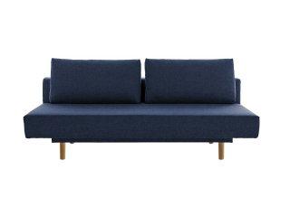Canapé lit clic-clac ANNA SUPREME tissu bleu marine