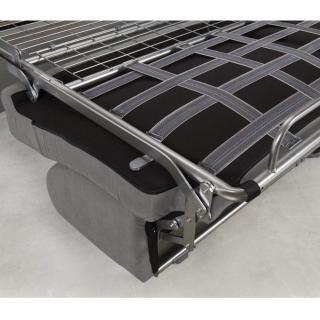 Canapé convertible rapido CRÉPUSCULE matelas 120cm comfort BULTEX® neo gris silver