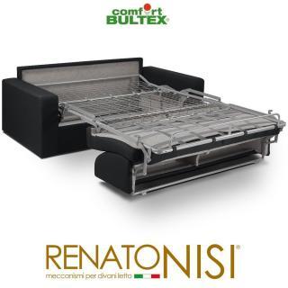 Canapé convertible express CRÉPUSCULE matelas 140cm comfort BULTEX® simili PUnoir