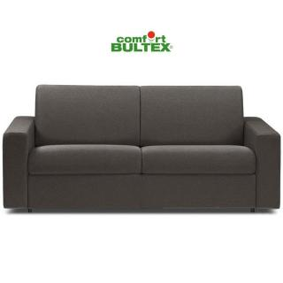 Canapé convertible rapido CRÉPUSCULE matelas 140cm comfort BULTEX® revêtement polyuréthane taupe