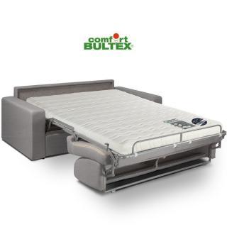 Canapé convertible rapido CRÉPUSCULE matelas 140cm comfort BULTEX® neo gris silver
