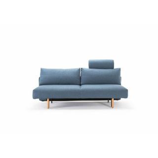 INNOVATION LIVING  Canapé design FRODE Mixed Dance Light Blue convertible lit 140*200 cm