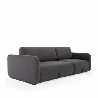 INNOVATION LIVING  Canapé convertible design VOGAN tissu Kenya Dark grey