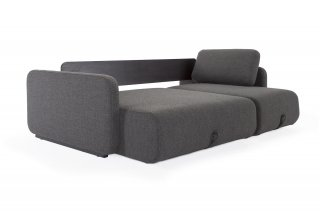 INNOVATION LIVING  Canapé convertible design VOGAN tissu Kenya Dark grey