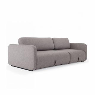 INNOVATION LIVING  Canapé convertible design VOGAN tissu Mixed Dance Grey