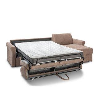 Canapé d'angle ROMANTICO convertible EXPRESS sommier lattes 140cm matelas 16cm