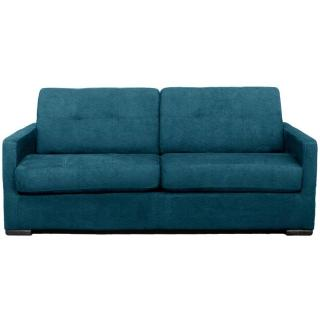 Canapé AREZZO 3 places convertible Ouverture EXPRESS couchage 142*180 cm tissu tweed turquoise