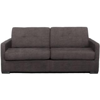 Canapé AREZZO 3 places convertible Ouverture EXPRESS couchage 142*180 cm tissu microfibre taupe
