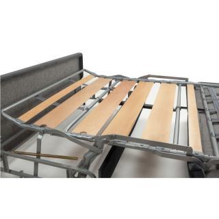 Canapé convertible rapido PRINCE matelas 160cm sommier lattes RENATONISI tête de lit intégrée