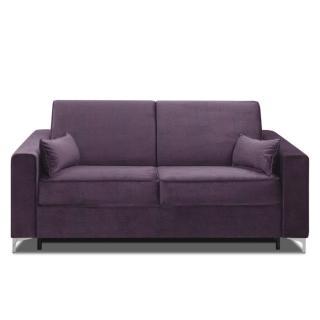 Canapé convertible rapido JACKSON 140cm sommier lattes RENATONISI tissu tweed violet
