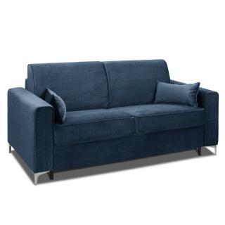 Canapé convertible rapido JACKSON 160cm sommier lattes RENATONISI tissu tweed bleu