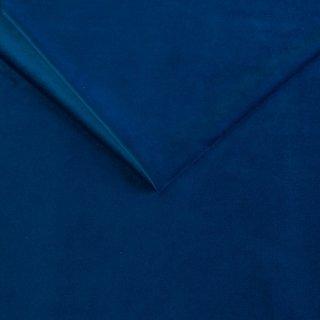 Canapé lit compact 3 places express LISBONNE 140cm sommier à lattes matelas 13cm velours bleu