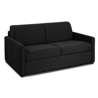 NICE divano 3 posti in microfibra nero sistema letto RAPIDO RENATONISI 140cm rete a doghe materasso 20cm