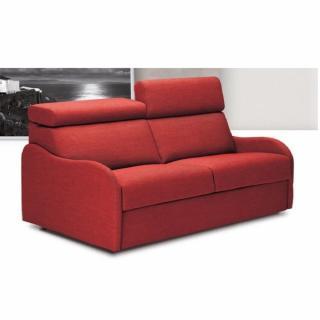 Canapé Convertible express RUBINA 140 cm déhoussable matelas 18 cm Encombrement ouvert : 206 cm
