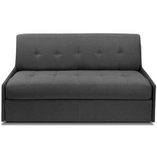 TRIOMPHE divano compatto in microfibra grafite sistema letto RAPIDO RENATONISI 140cm rete a doghe materasso 15cm