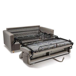 Canapé WAGRAM convertible express matelas 16 cm sommier métal 120 cm têtières ajustables