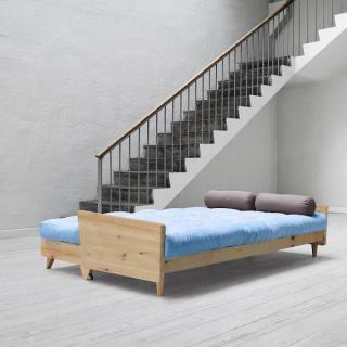 Canapé 3/4 places convertible INDIE style scandinave futon celeste couchage 130*190cm
