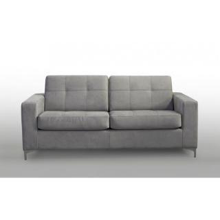 Divano INFINITY 3 posti in microfibra grigio chiaro convertibile Apertura EXPRESS letto 142*180 cm