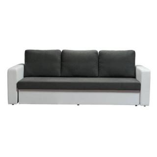 Canapé 3 places convertible ALTUS en bi-matière gris et blanc
