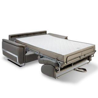 Canapé convertible express DIDEROT 140cm sommier lattes matelas 16cm pieds luge