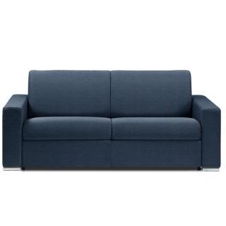 Canapé lit DREAMER OUVERTURE RAPIDO RENATONISI sommier lattes 140cm matelas 14cm tissu tweed bleu