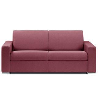 Canapé lit DREAMER OUVERTURE RAPIDO RENATONISI sommier lattes 140cm matelas 14cm tissu tweed rouge