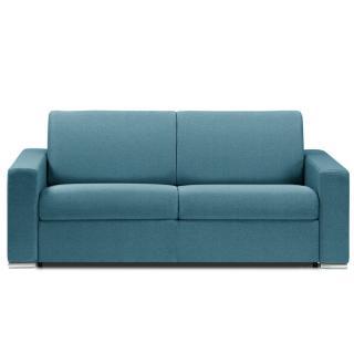 Canapé lit DREAMER OUVERTURE RAPIDO RENATONISI sommier lattes 140cm matelas 14cm tissu tweed turquoise