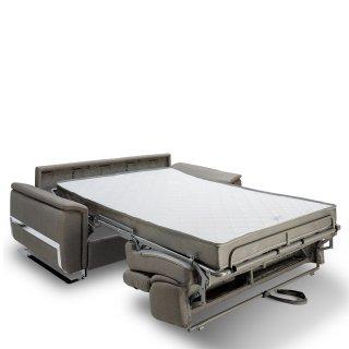Canapé convertible express REAUMUR 140cm sommier lattes matelas 16cm