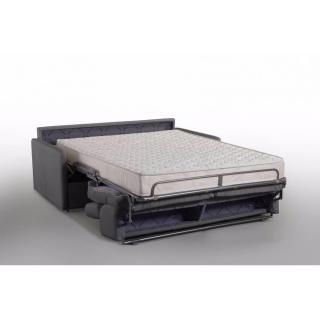 Canapé lit MONTMARTRE en microfibre graphite couchage 160cm MATELAS 18CM sommier lattes RENATONISI