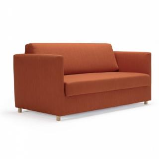 INNOVATION LIVING Canapé convertible OLAN tissu Elegance Paprika couchage 140 cm