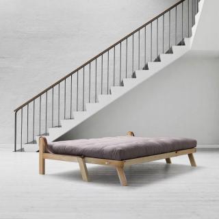 Canapé 3/4 places convertible POETRY style scandinave matelas futon couchage 130*190cm
