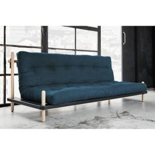 Canapé convertible POINT style scandinave matelas futon deep blue couchage 130*190cm