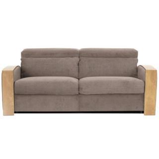 Canapé lit ouverture RAPID EXPRESS CADILLAC  Accoudoirs en bois matelas 18cm