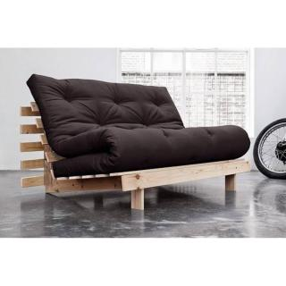 Canapé BZ style scandinave ROOTS NATURAL futon grey graphite couchage 140*200cm