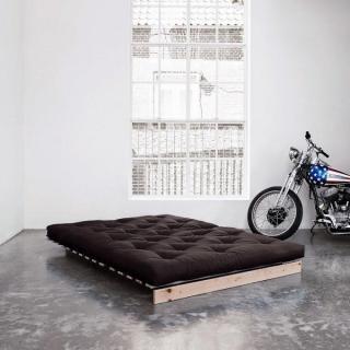 Canapé BZ style scandinave ROOTS NATURAL futon grey graphite couchage 140*200cm