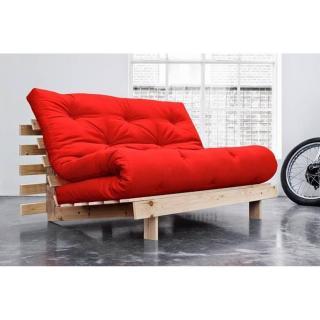 Canapé BZ style scandinave ROOTS NATURAL matelas futon couchage 140*200cm