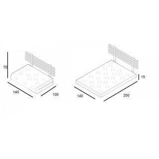 Canapé lit en pin massif SHIN SANO matelas futon deep blue couchage 140*200cm