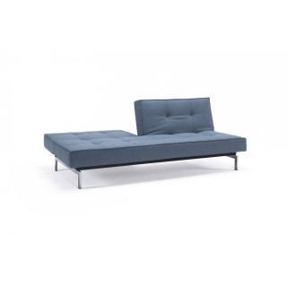 INNOVATION LIVING  Canapé Sofa SPLITBACK  CHROME convertible lit 115*200 cm tissu Mixed Dance Light Blue