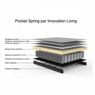 INNOVATION LIVING  Canapé SPLITBACK  CHROME avec accoudoirs tissu convertible lit 115*200 cm tissu Mixed Dance Grey