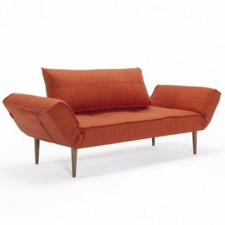 Canape design ZEAL STYLETTO convertible lit 200*70 cm tissu Elegance Paprika.