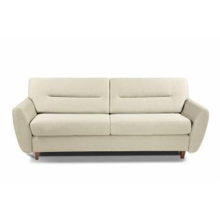 COPENHAGUE divano in pelle riciclata crudo sistema letto RAPIDO 120cm materasso 15cm