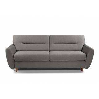 COPENHAGUE divano in pelle riciclata talpa sistema letto RAPIDO 120cm materasso 15cm