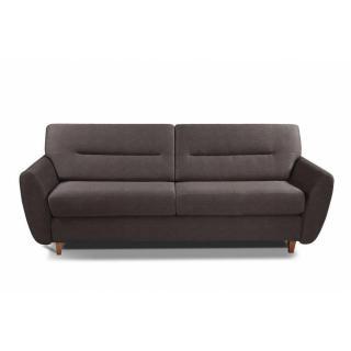 COPENHAGUE divano in tessuto tweed cioccolato sistema letto RAPIDO 120cm materasso 15cm