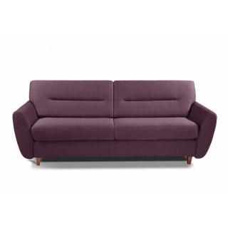 COPENHAGUE divano in tessuto tweed fucsia sistema letto RAPIDO 120cm materasso 15cm